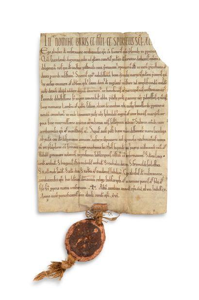 CHARTE d'ALVISE, évêque d'ARRAS, 1147. Charte...