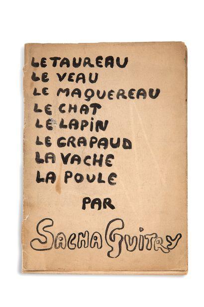 GUITRY Sacha (1885-1957) dramaturge.