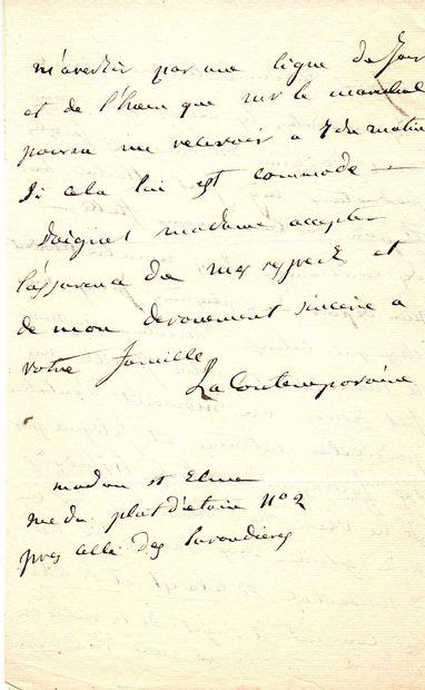 [LAS CASES fils Emmanuel de (1800-1854) fils du mémorialiste, homme politique]