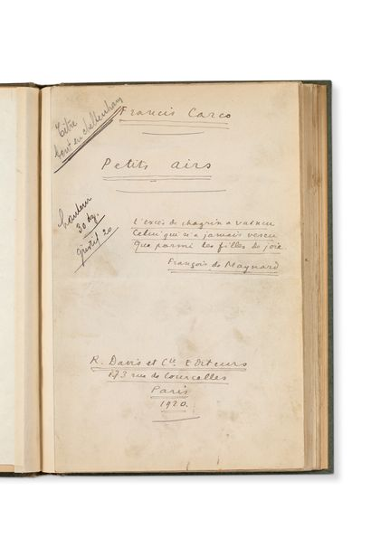 CARCO FRANCIS (1886-1958)