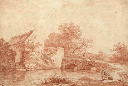 ÉCOLE FRANÇAISE XVIIIE SIÈCLE.<br/>ATTRIBUÉ À JEAN-GEORGES WILLE (1715-1808)