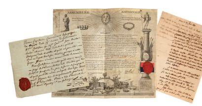 BASTILLE BREVET de Vainqueur de la Bastille, 19 juin 1790 ;