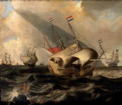 Ecole hollandaise du XVIIIème, suiveur de Cornelisz VROOM