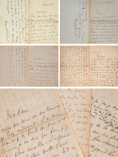 PROUST Marcel (1871-1922) Ensemble de 25 lettres autographes signées à MADAME WILLIAMS...