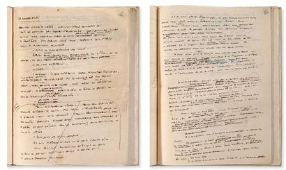 SAINT EXUPERY ANTOINE DE (1900-1944) Au centre du désert, manuscrit autographe, abondamment...