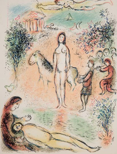 CHAGALL Marc (1887-1985).HOMÈRE. L'Odyssée. Lithographies originales de Marc CHAGALL...