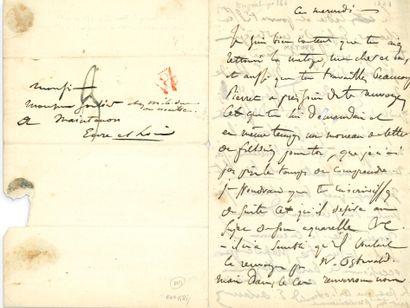 DELACROIX Eugène (1798-1863). L.A.S. «E. Delacroix», mercredi [1823], à Charles SOULIER,...