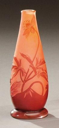 ETABLISSEMENTS GALLE Vase piriforme sur talon...