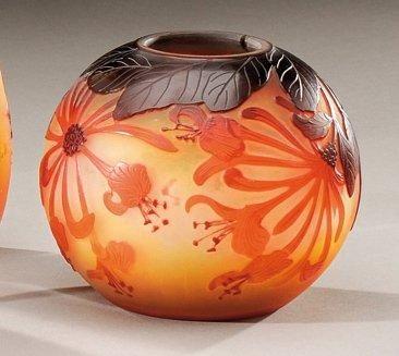 ETABLISSEMENTS GALLE Vase boule en verre...
