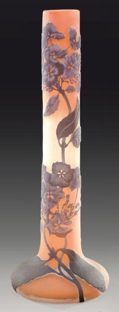 ETABLISSEMENT GALLE Vase soliflore à corps...