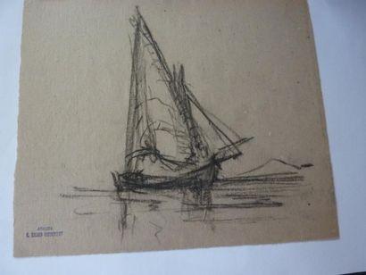 Georges RICARD-CORDINGLEY (1873-1939) Lot de 9 huiles et dessins: 1- Lac de Garde...