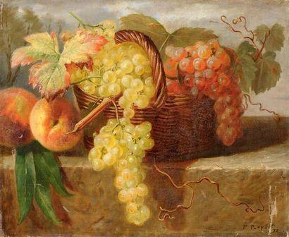 Ferdinand ROYBET (1840-1920) Fruits d'automne Huile sur toile 38 x 46 cm Signée en...
