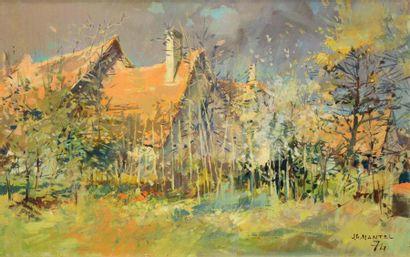 Jean-Gaston MANTEL (1914-1995) Paysage Huile sur toile Signé et daté 74 en bas à...