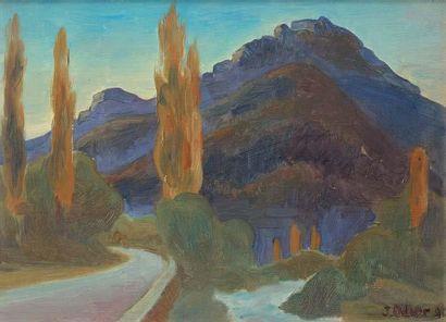 Jacques-Louis ODIER (1853-1930) Paysage Huile sur toile 32 x 45 cm