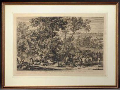 Quatre gravures Sur le le siège de Douai...