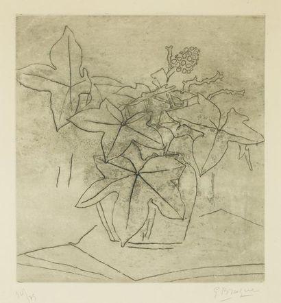 Georges BRAQUE (1882-1963) Nature morte au vase fleuri Eau forte et aquatinte, numéroté...