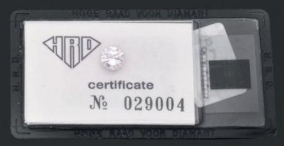Diamant sous scellé du HRD précisant: Poids:...