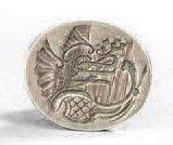 Cachet en argent pour un blason monogrammé. Travail français du XVIIIème siècle....