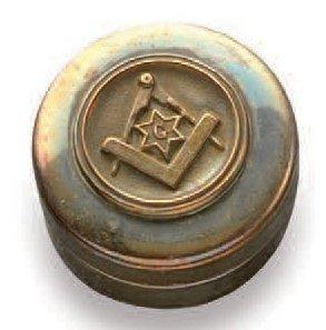 Boîte à pillules de forme cylindrique en...