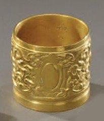 Petite boîte cylindrique en bronze, à décor...