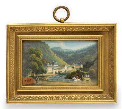 DELAYE Ecole Autrichienne ou Suisse vers 1830