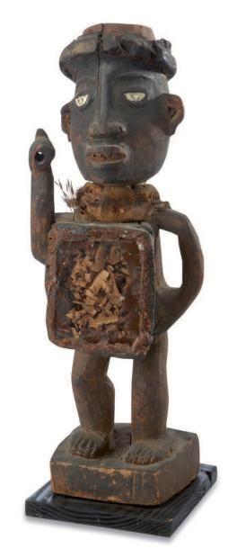 Bakongo. (Congo) Ancien fétiche anthropomorphe...