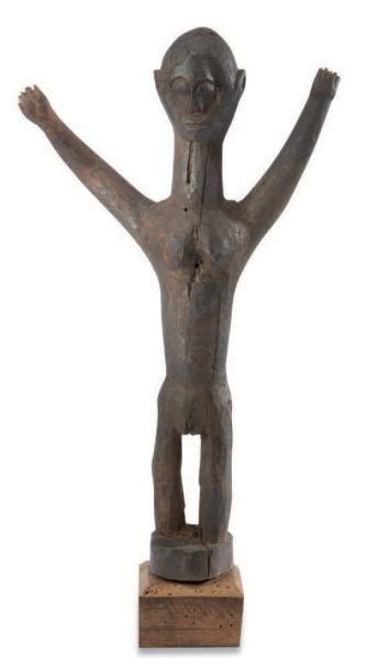 Lobi. (Burkina-Faso) Statuette féminine figurée...