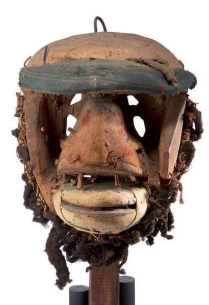 We. (Côte-d'Ivoire) Ancien et puissant masque...