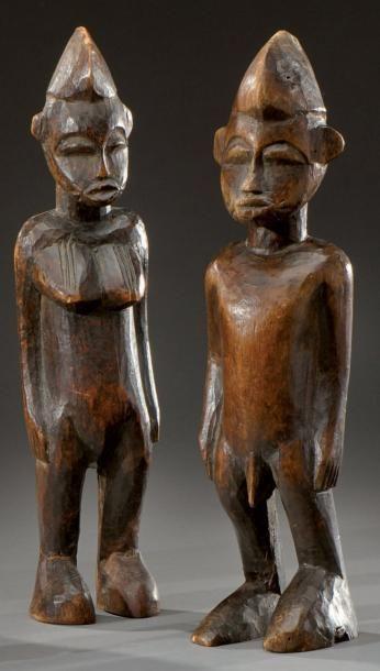 Senufo. (Côte d'Ivoire) Paire de statuettes...