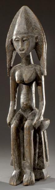 Bambara. (Mali) Représentation de Reine Bambara...