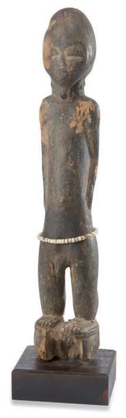 Baoulé. (Côte-d'Ivoire) Ancienne statuette...