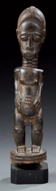 Baoulé (Côte d'ivoire ) Statue figurant un...