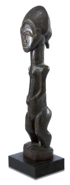 Baoulé. (Côte-d'Ivoire) Belle statuette masculine...