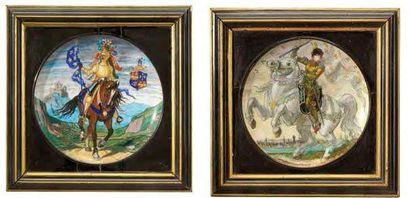 THEODORE DECK (1823-1891) et EUGENE GLUCK (1820-1898)