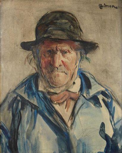 Lucien SIMON (1861-1945) Portrait d'homme Aquarelle, signée en haut à droite 31 x...