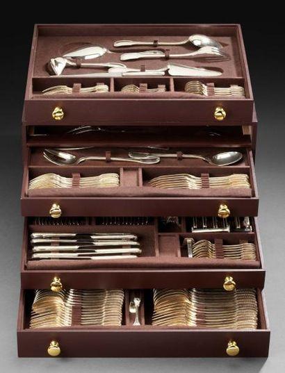 Importante et trés complète ménagère en argent,...