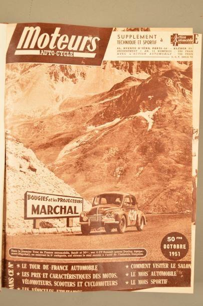 Collection complète de la revue MOTEURS COURSES Du n°1 au n°102 (octobre 1951 au...