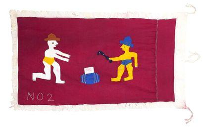 Drapeau Asafo flag Peuple Fante People -...