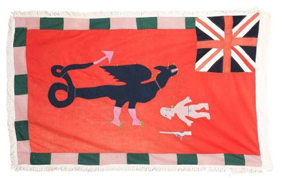 Très beau drapeau Asafo flag Peuple Fante...