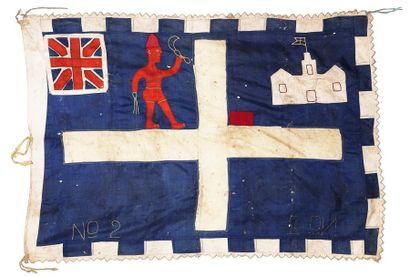 Drapeau Asafo flag Partageant l'espace en...