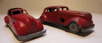 SOLIDO Ensemble de 2 voitures couleur rouge En l'état sans boîte