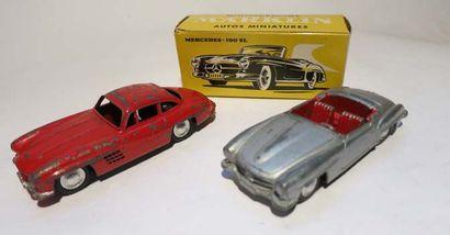 MARKLIN Ensemble de 2 voitures comprenant une Mercedes 190 SL ref 8025 en boîte,...
