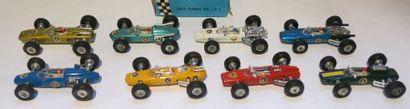 PENNY Ensemble de 8 voitures comprenant une Lola Climax F1 en boîte, une Lotus Climax...
