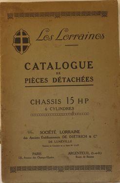Catalogue de pièces détachées Lorraine Dietrich...
