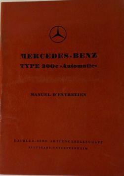 Manuel d'entretien Mercedes Benz 300 c Automatic...
