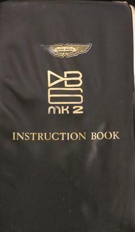 Catalogue Aston Martin instruction book DB6...