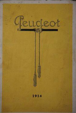 Catalogue Peugeot 1914, illustrations de...