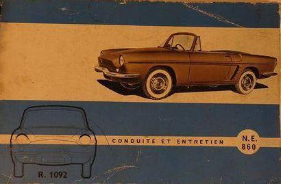 Notice d'entretien Renault Floride type R...