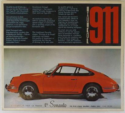 Dépliant publicitaire pour Porsche 911 année...