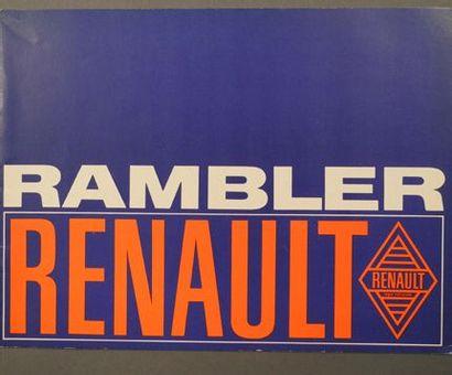 Catalogue Renault RAMBLER 1967